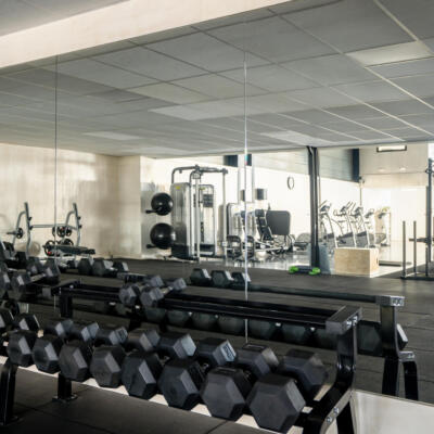 Veiligheidsspiegels in een sportschool