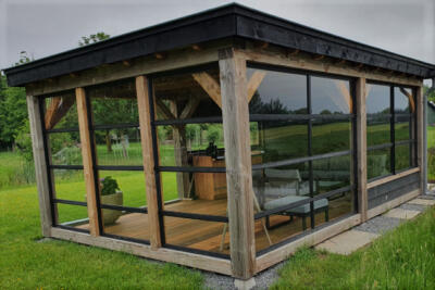 Glas voor tuinhuis